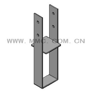 固定式立柱预埋件-木结构别墅金属配件
